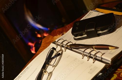 Fireside Study Fototapet