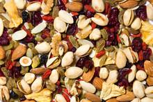 Fruit And Nut Background