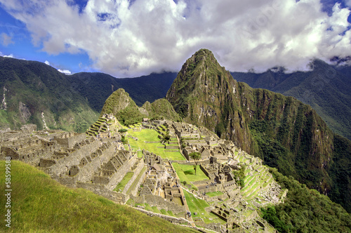 Photographie  Inca city Machu Picchu (Peru)