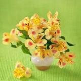 Żółte orchidee w wazonie