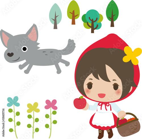 czerwony-kapturek-bajkowa-ilustracja