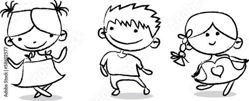 In de dag Cartoon draw Симпатичные карикатуры дети