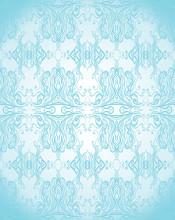 Elegant Turquoise Seamless Pattern.