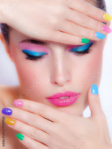 Spoed Foto op Canvas Beauty rainbow colors