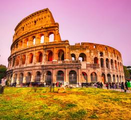 Fototapeta na wymiar The Majestic Coliseum, Rome, Italy.