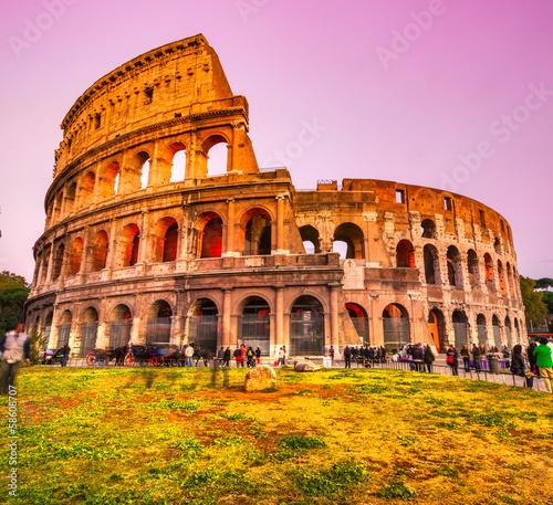 Obrazy na płótnie Canvas The Majestic Coliseum, Rome, Italy.