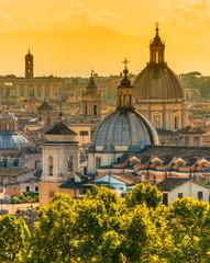Fototapeta na wymiar View of Rome from Castel Sant'Angelo, Italy.