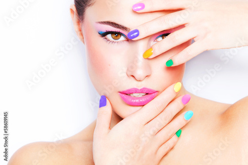 Keuken foto achterwand Beauty colorful makeup