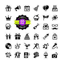 Web Icon Set Party, Birthday, ...