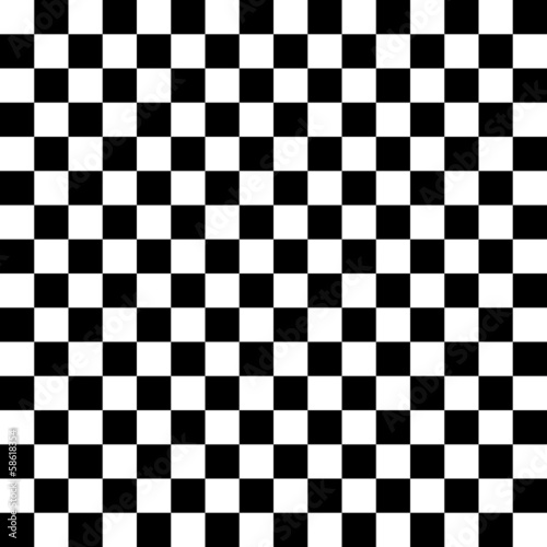 Carta da parati Chessboard black and white background