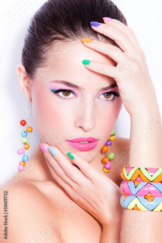 Spoed Foto op Canvas Beauty beauty in color