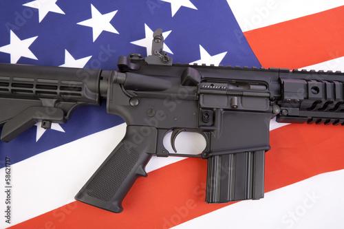 Fotografie, Obraz  AR-15 Close Up