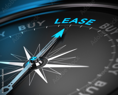 Cuadros en Lienzo  Lease vs Buy Concept