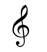 Clef Vector Isolated On A Whit...