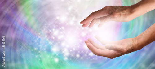 Photo  Beautiful healing hands website header