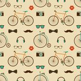 Wektor Hipster Doodles kolorowy wzór, tło - 58637383