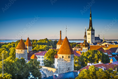 Photo sur Toile Europe de l Est Tallinn Estonia
