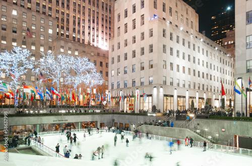 Photo Rockefeller Center Schlittschuhlaufen
