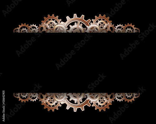 Photo  Steampunk gears frame
