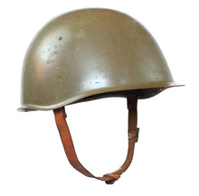 Retro Military Helmet On A Whi...