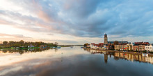 Panoramic River View Of The Dutch Historic City Deventer
