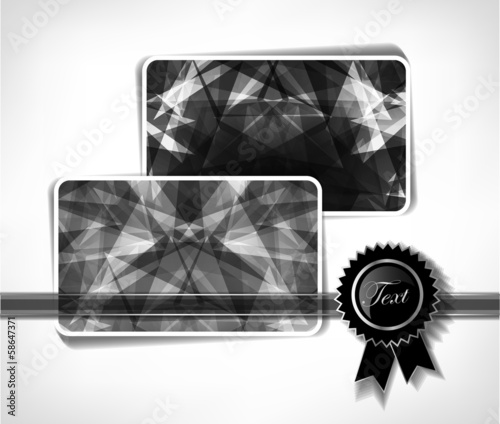 Diamond business cards  Vector illustration - Buy this stock