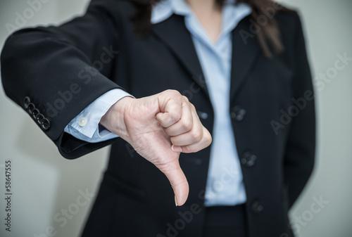 Fotografie, Obraz  Woman giving thumbs up