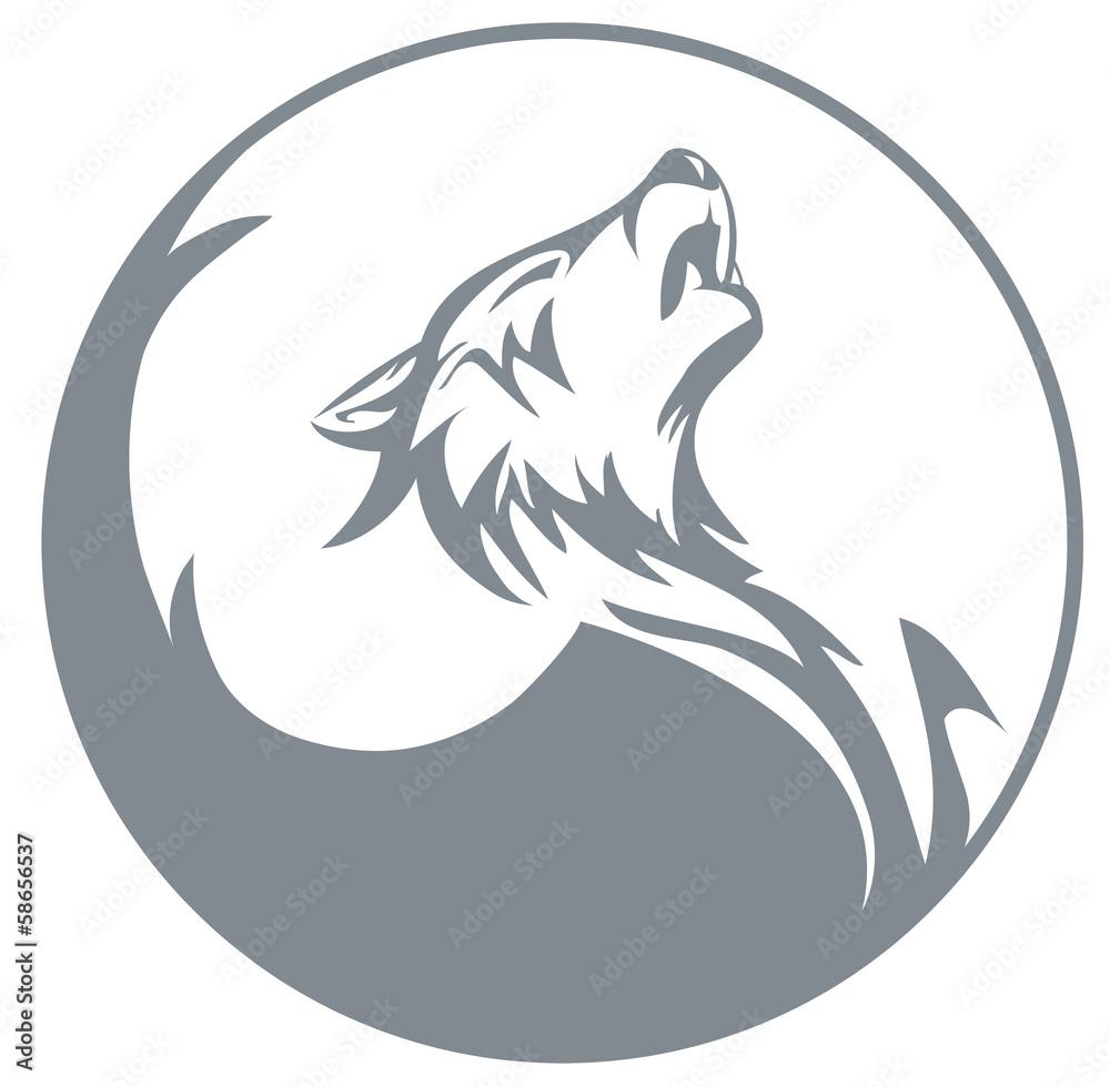 Fototapeta Howling wolf