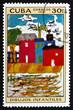 Postage stamp Cuba 1972 Valencia Beach, by Joaquin Sorolla