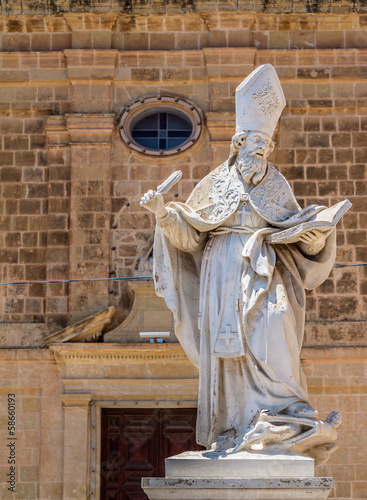 St Augustine statue at the St Augustine convent in Victoria Canvas Print