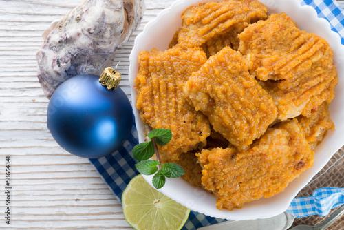 Fototapeta Fish with carrots imbir sauce obraz