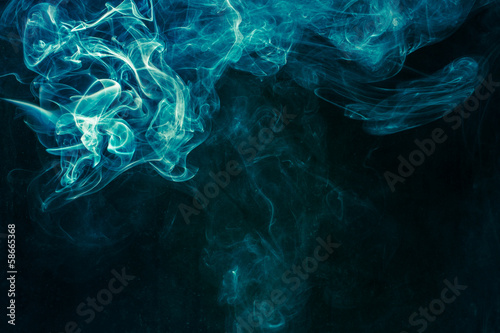 Foto op Plexiglas Rook Bluish-green smoke