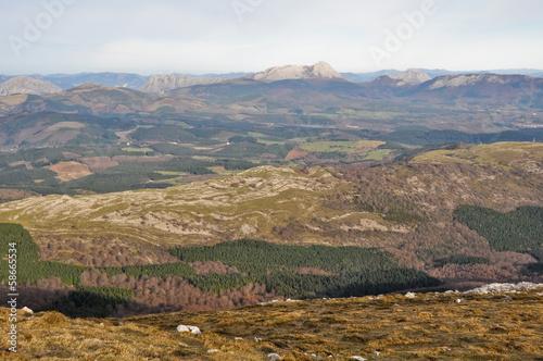 Panorámica desde el Monte Gorbea, País Vasco (España)