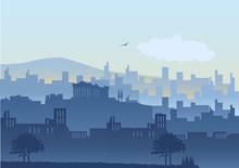 An Illustration Of Athens Skyline