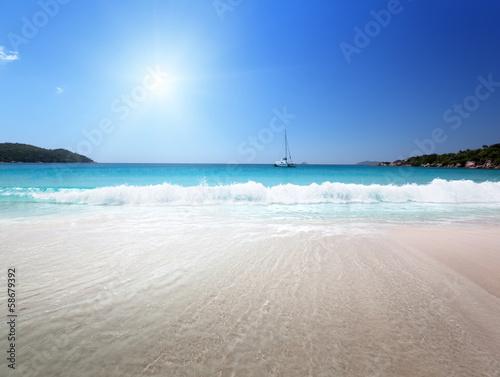 Fototapeta Anse Lazio beach at Praslin island, Seychelles