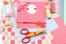 Beautiful Hand Made Post Card And Scrapbooking Elements