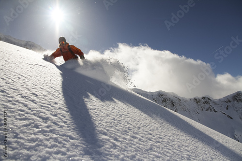 Fotografie, Obraz  Snowboard freerider