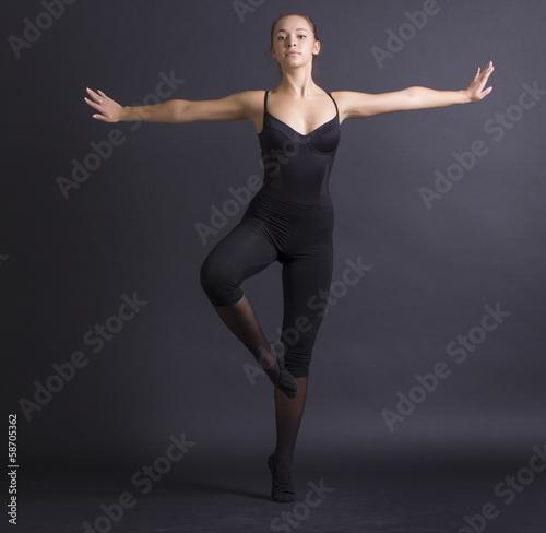 young beautiful gymnast woman Fototapeta