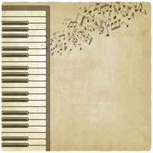 Vintage Background With Piano