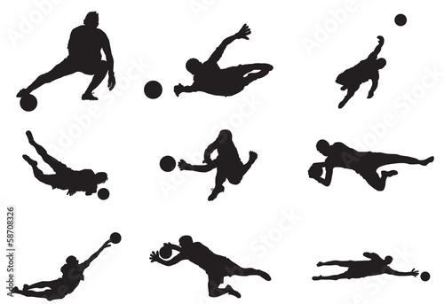Fotomural soccer goalkeeper silhouette
