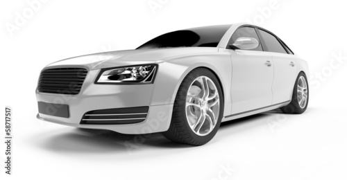 Staande foto Cartoon cars illustration of a concept sports sedan