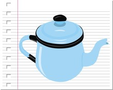 Illustration Teapot With On Pa...
