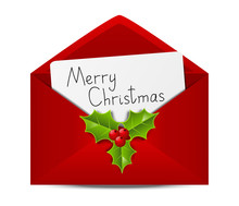 Christmas Envelope With Paper Card