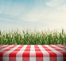 Tablecloth On Cornfield