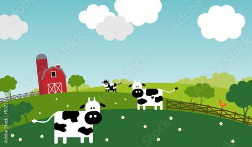 Spring on a farm.