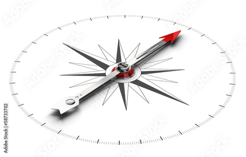 Fotografie, Obraz  Compass Direction Background