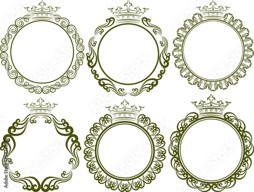 royal frames with crown - Buy this stock vector and explore similar ...