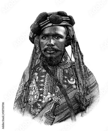 Fotografía Comorian Sultan - 19th century