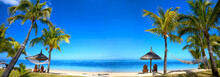 Tropical Beach Panorama With C...