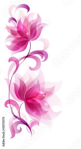 rozowe-abstrakcyjne-kwiaty-na-bialym-tle